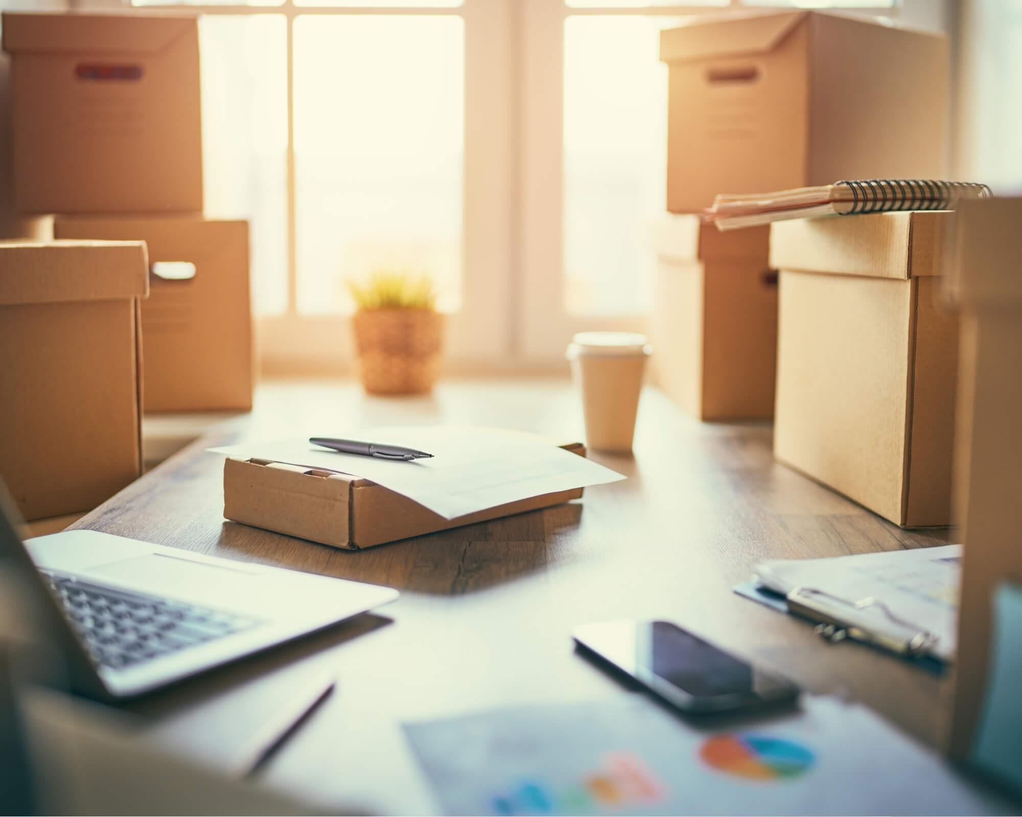 cajas para empaquetar productos y vender por Internet