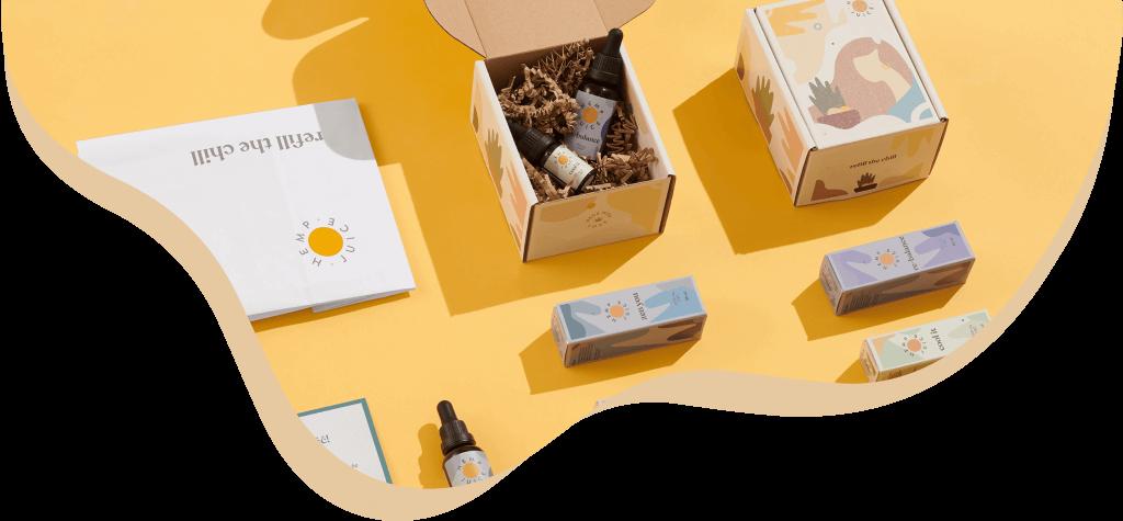 Individuelle Cannabis-Öl Verpackung