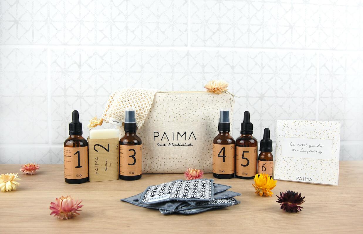 Produits de beauté Païma et leur emballage