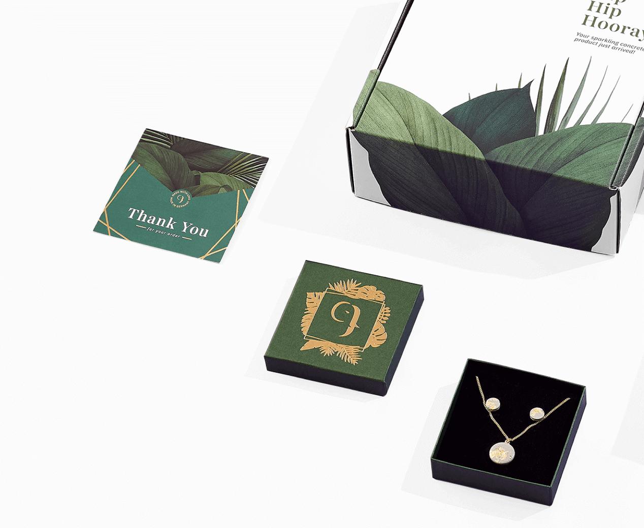 packaging de lujo caja con cierre deslizante