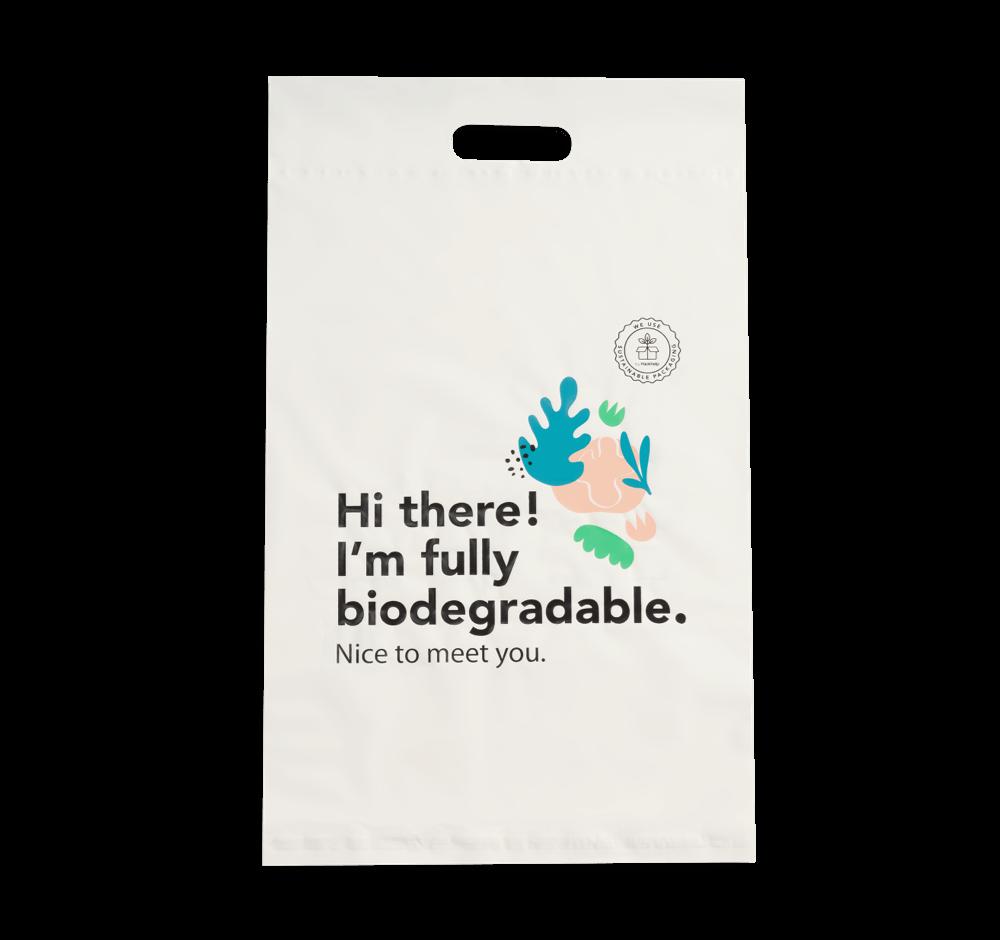 Sac d'envoi en plastique biodégradable pré-imprimé