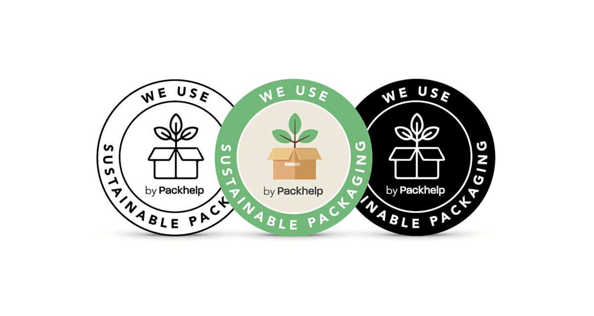 Eco badge emballage éco-responsable Packhelp