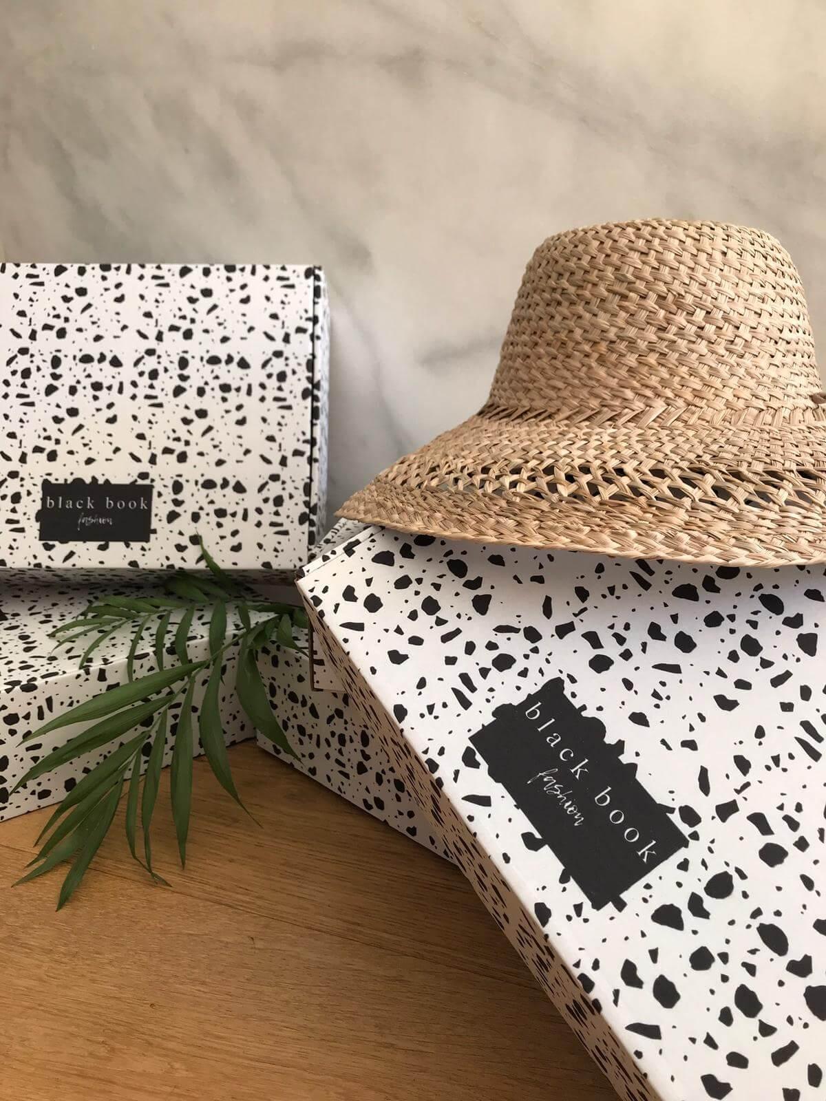 Boîtes d'emballage de la marque de mode Black Book Fashion