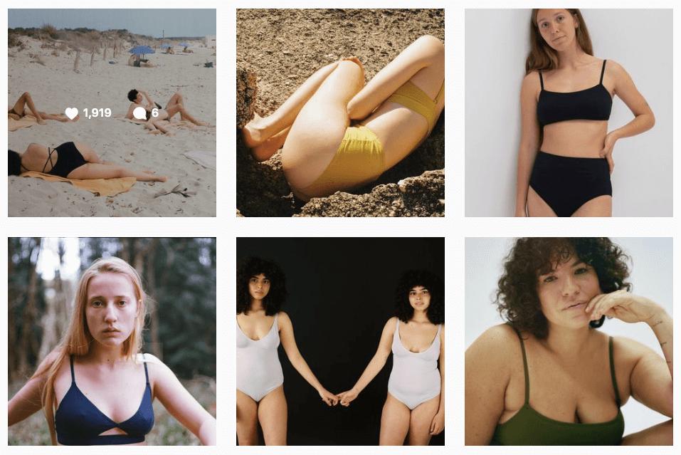 Instagram de The nude label