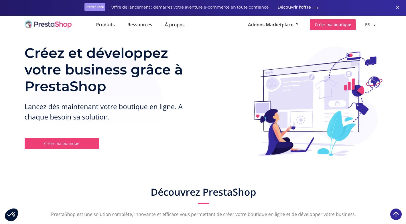 Plateforme de e-commerce Prestashop