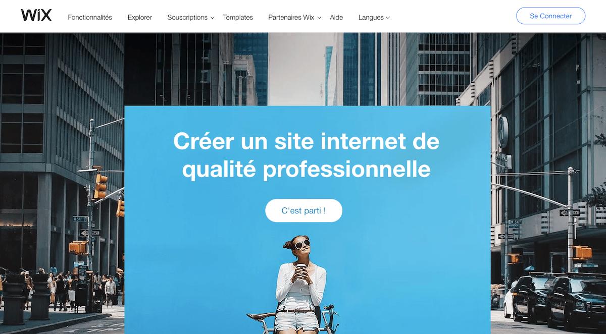 Créer son site vitrine avec Wix