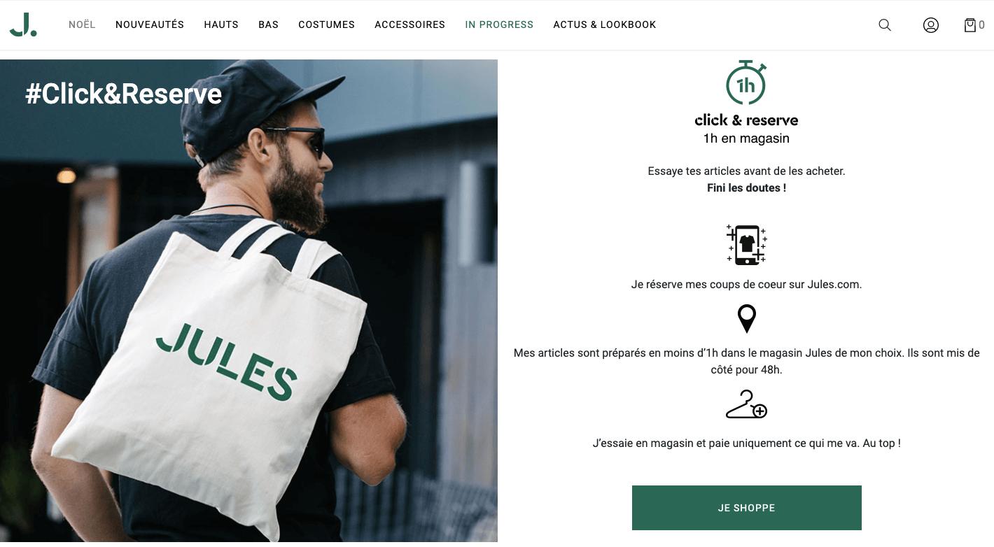 Click and collect de la marque Jules