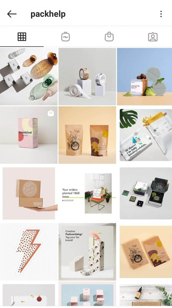 packhelp instagram photography branding