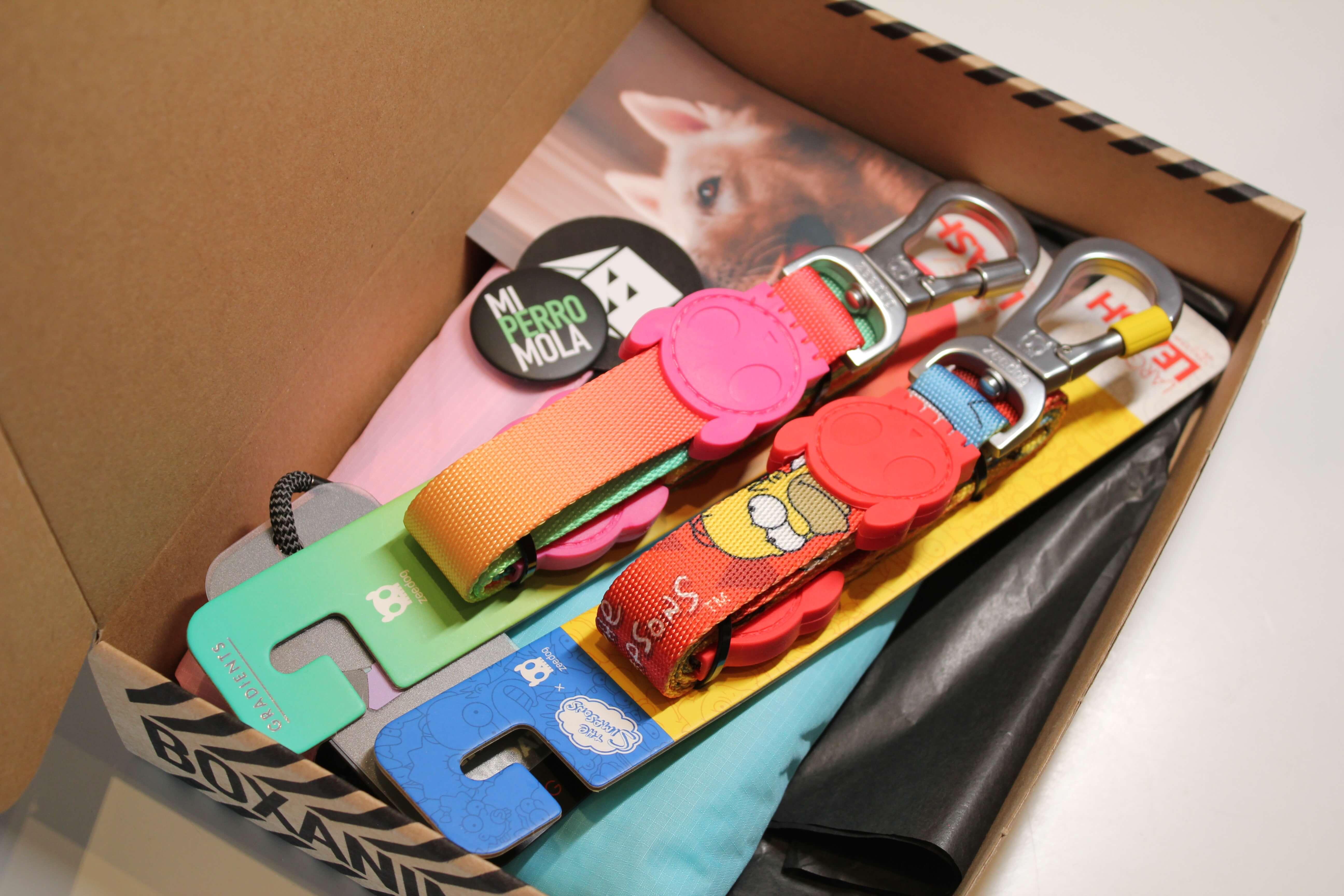 productos caninos dentro de una caja postal