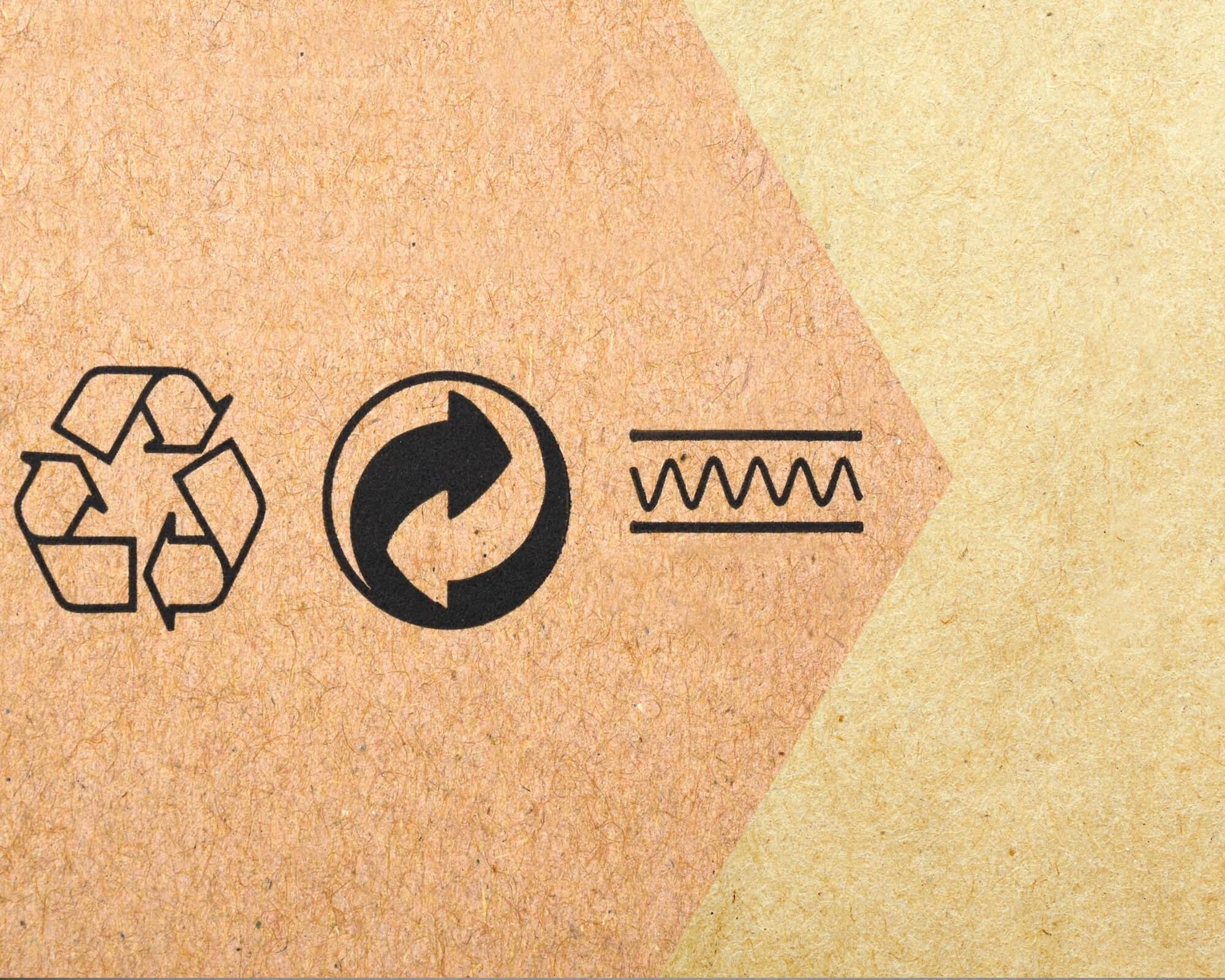 símbolos de packaging ecológico