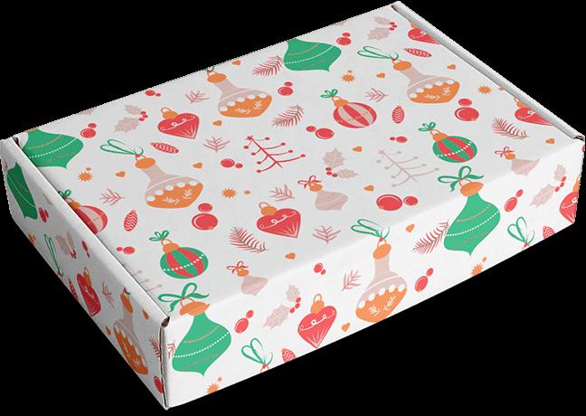caja motivo navideño