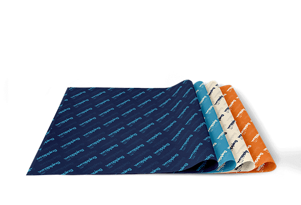 Papier de soie imprimée du logo d'une marque comme motif
