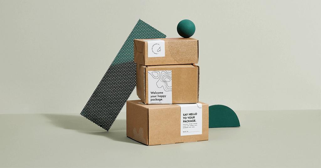Empilement de boîtes d'emballage