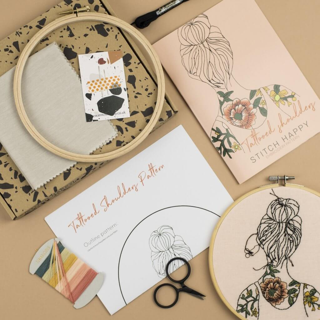 embroidery kits with custom packaging