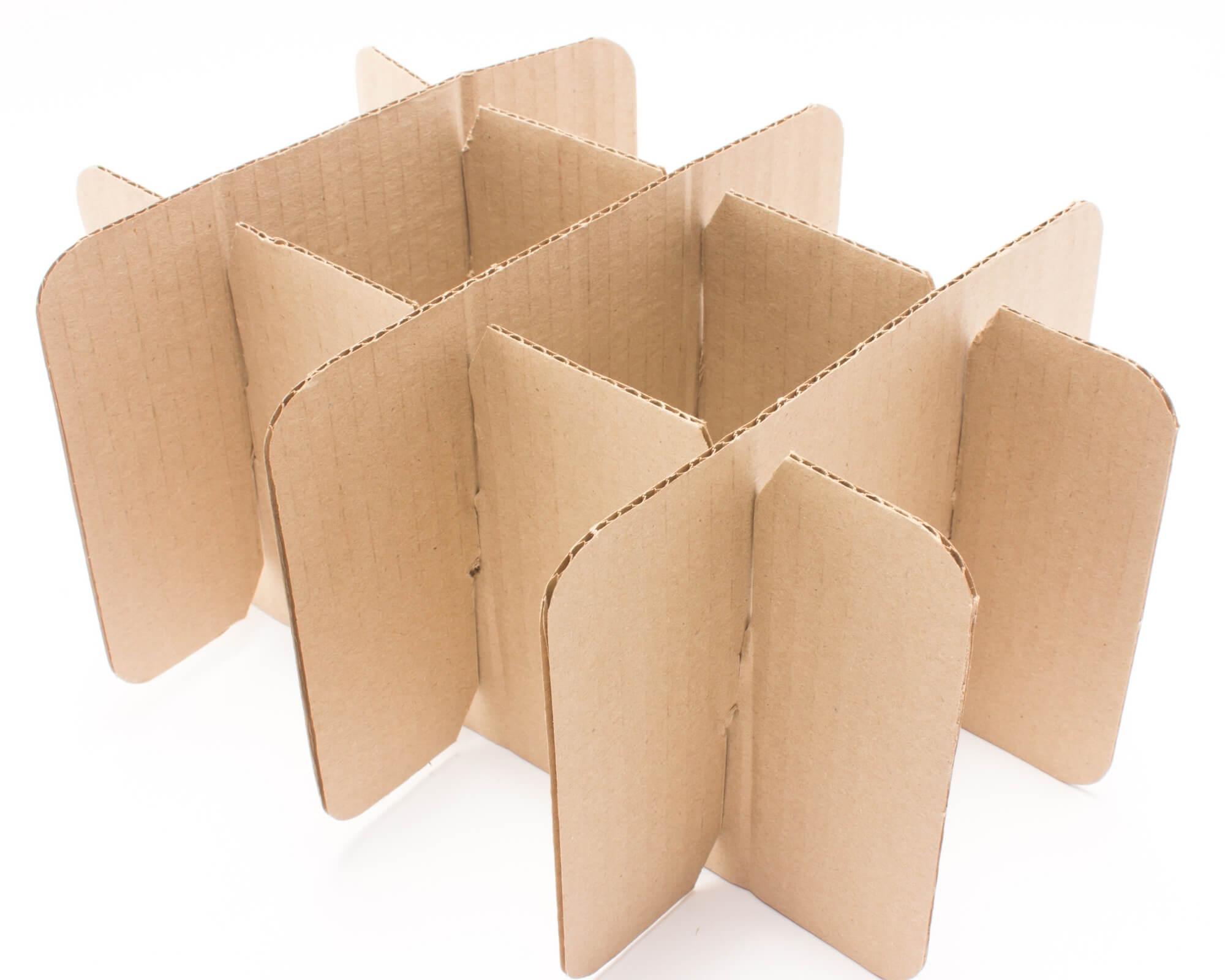 compartimentos de cartón