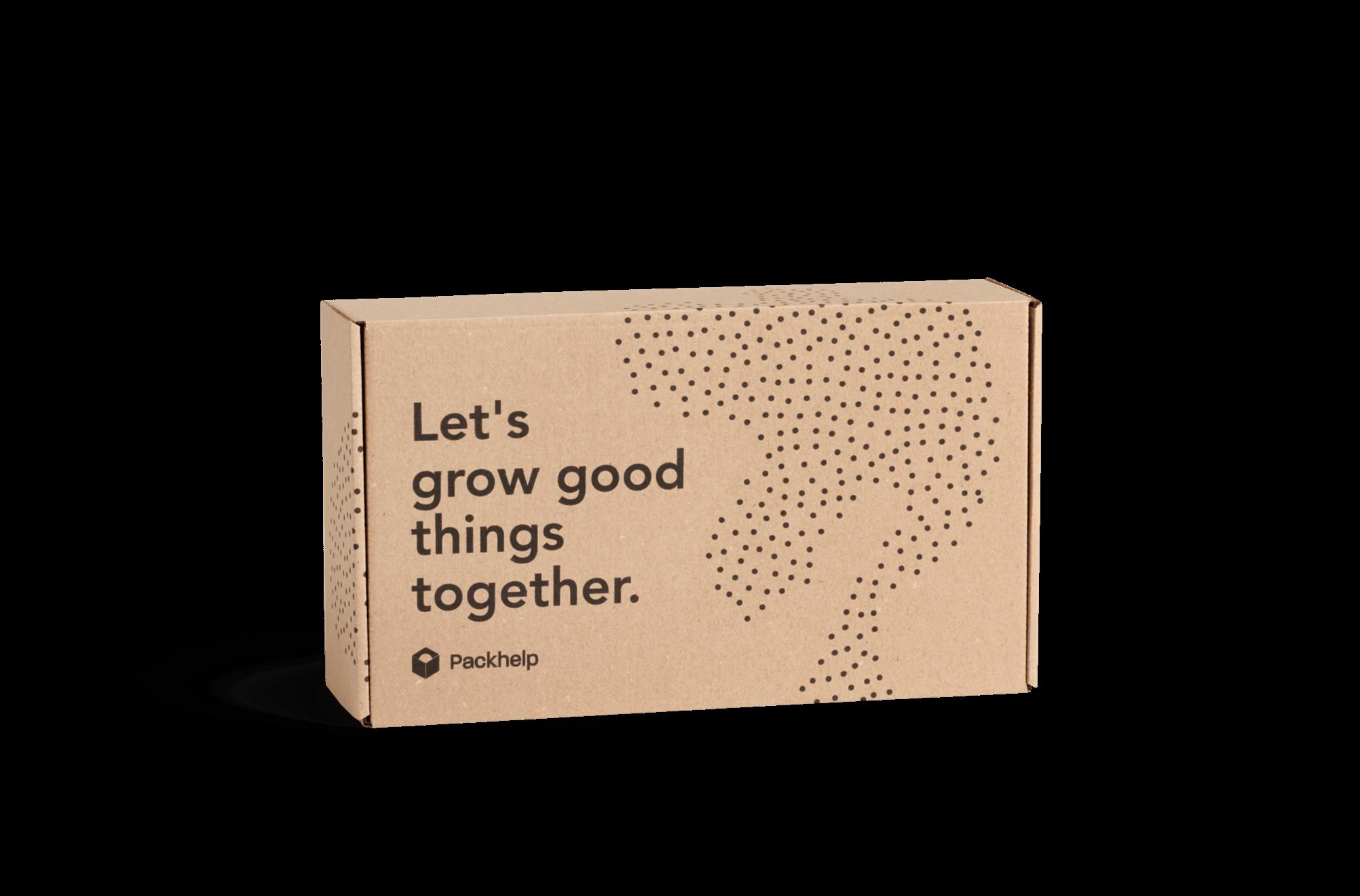 Corrugated cardboard classic mailer box with sample design