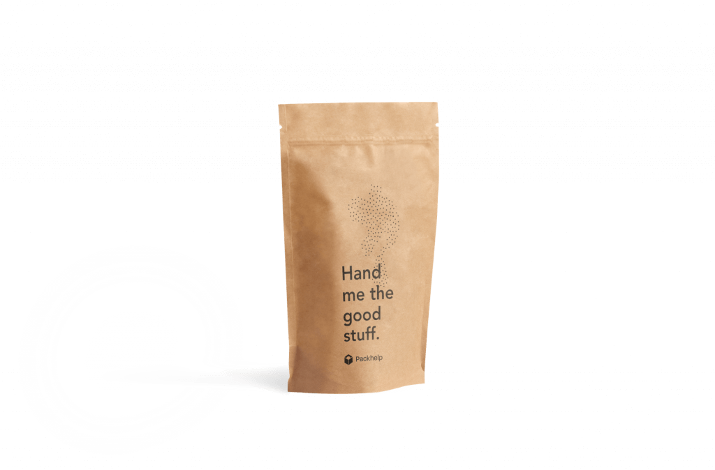 Stand up pouch in kraft with print