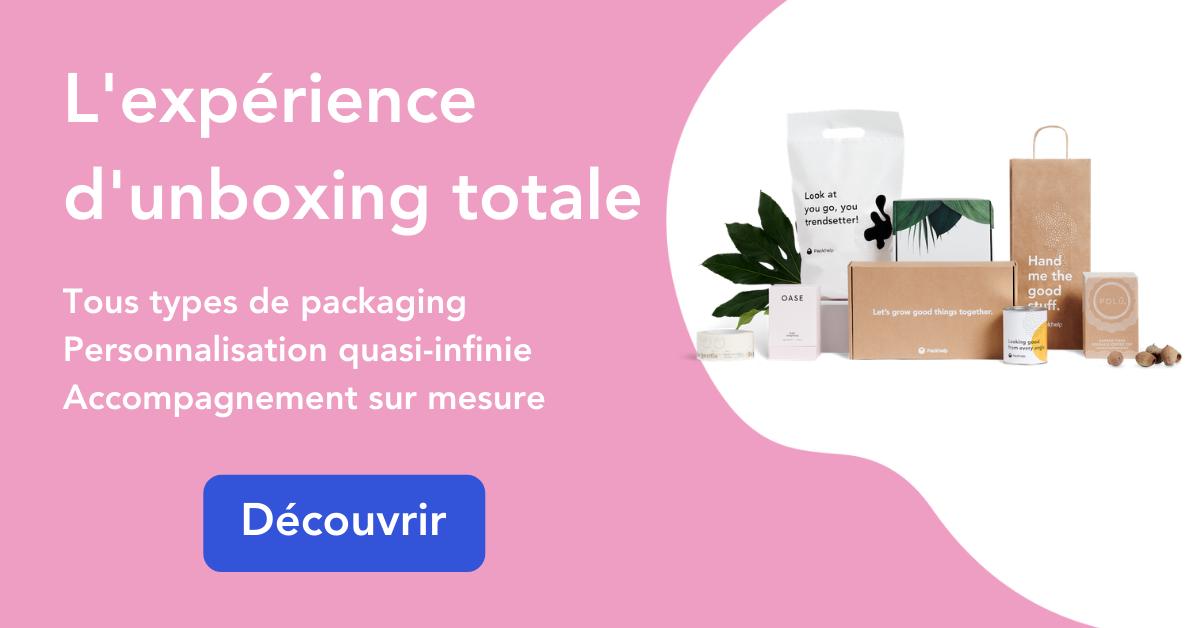Concevez une expérience d'unboxing parfaite grâce aux solution packaging Packhelp