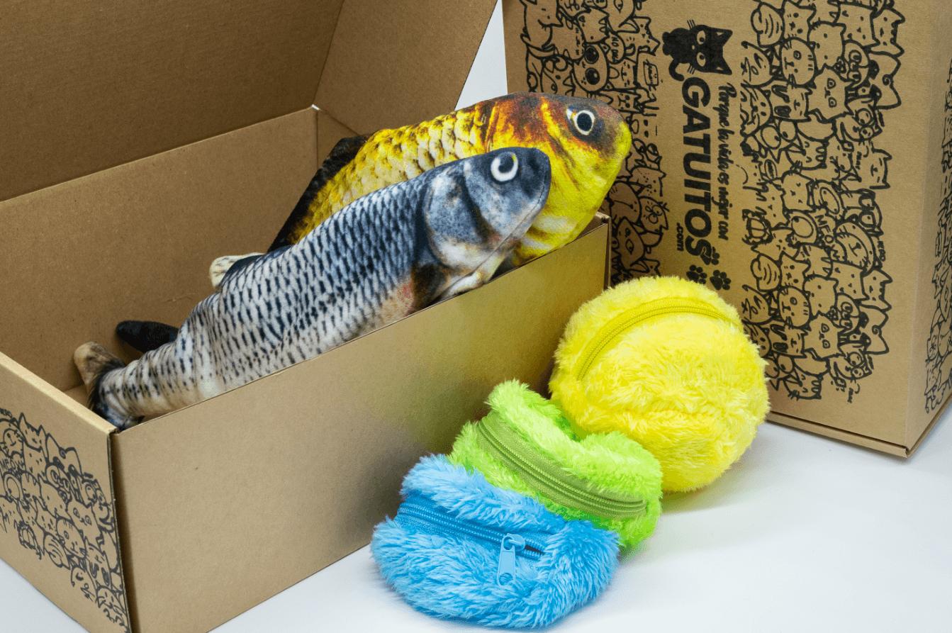 juguetes para mascotas de la marca Gatuitos