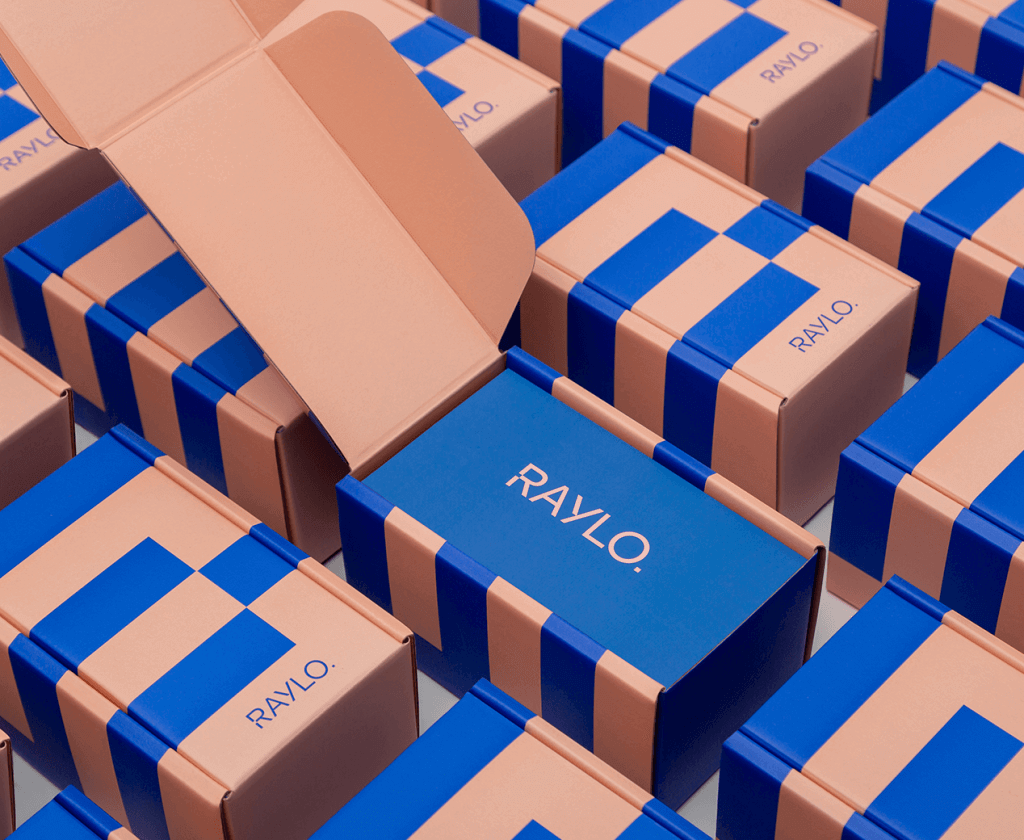 Boîtes packaging pour smartphones de Raylo