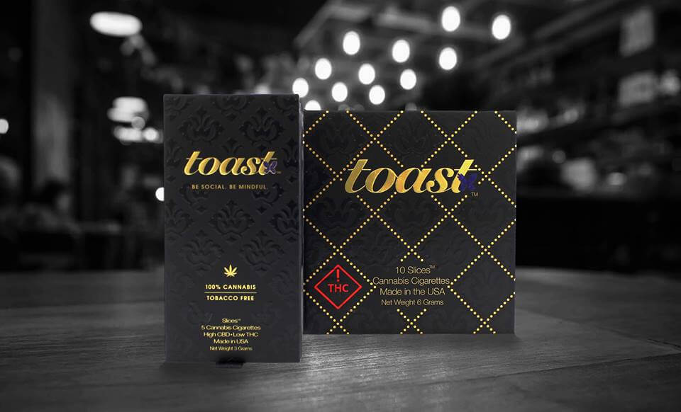 cannabis packaging toast