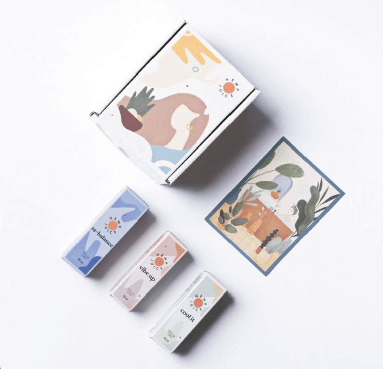 minimalist cbd packaging design