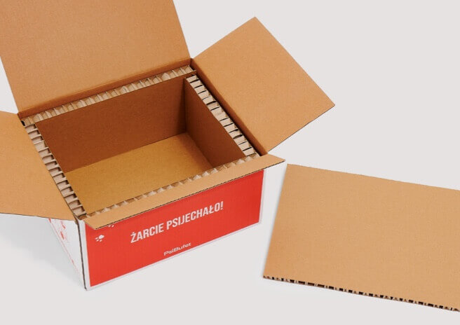 Open custom shipping box