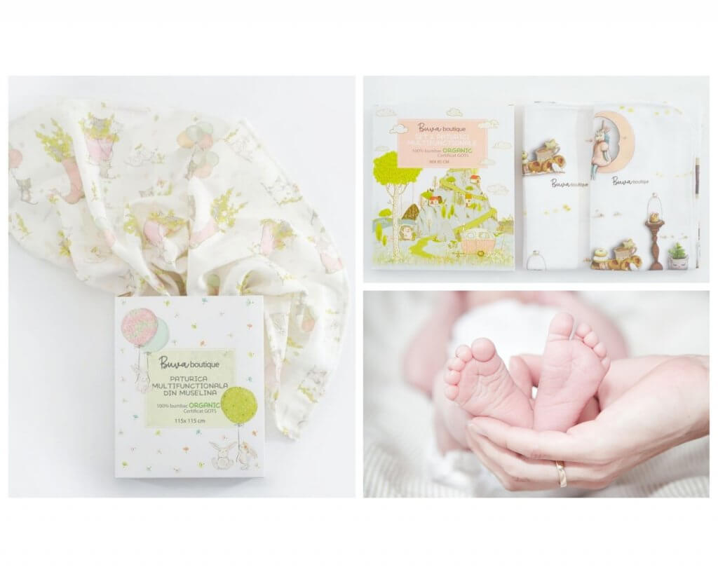White product box baby blankets
