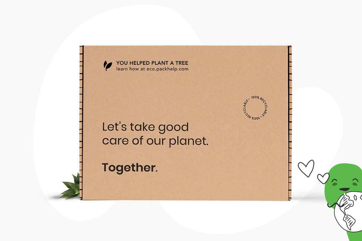 Boîte en carton ondulé recyclé