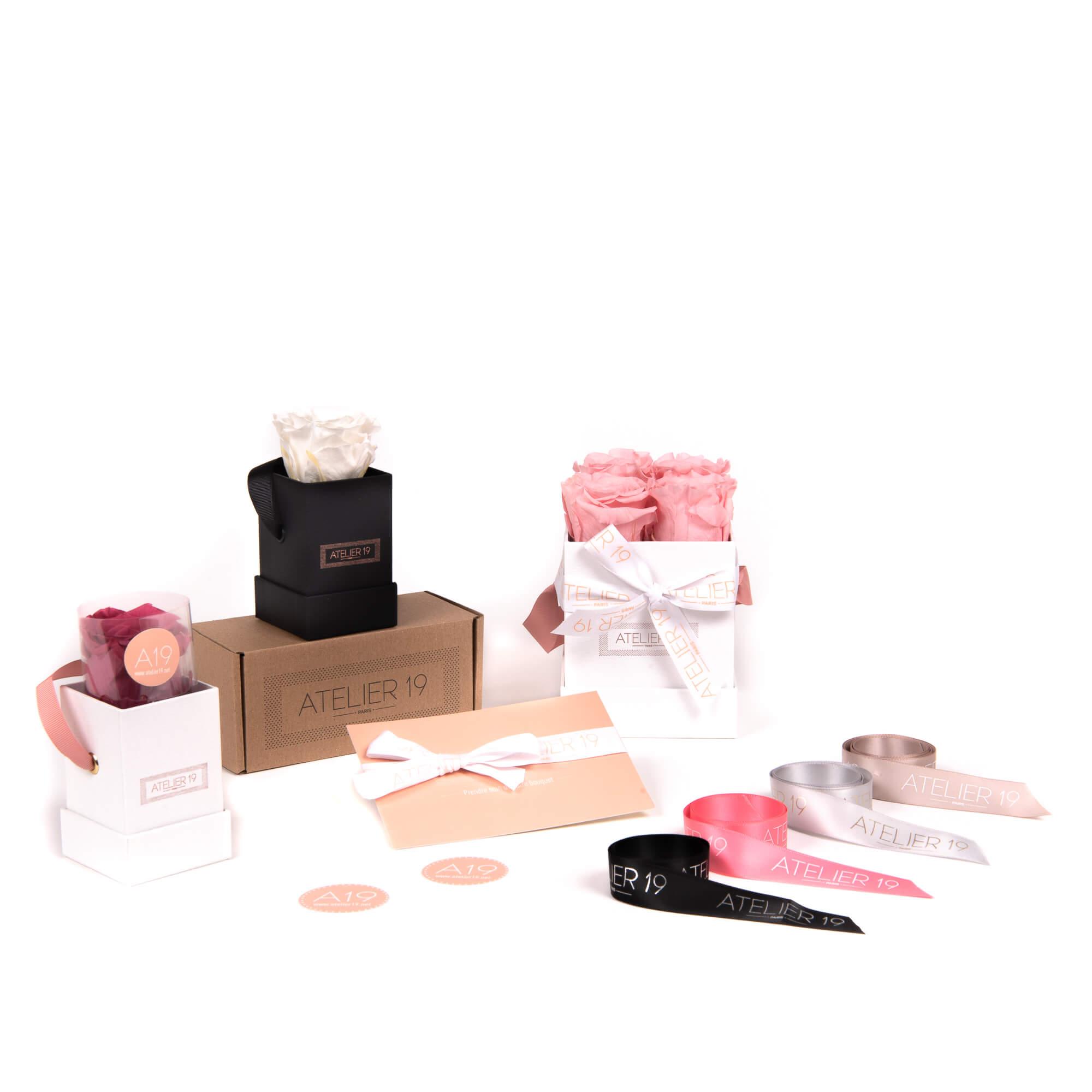 Cajas y bolsas personalizadas de Atelier 19