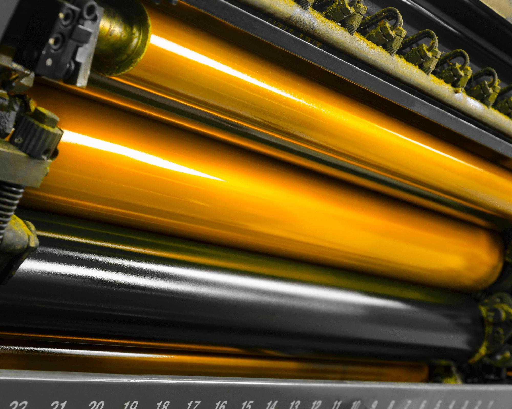 rodillos utilizados para la impresión offset