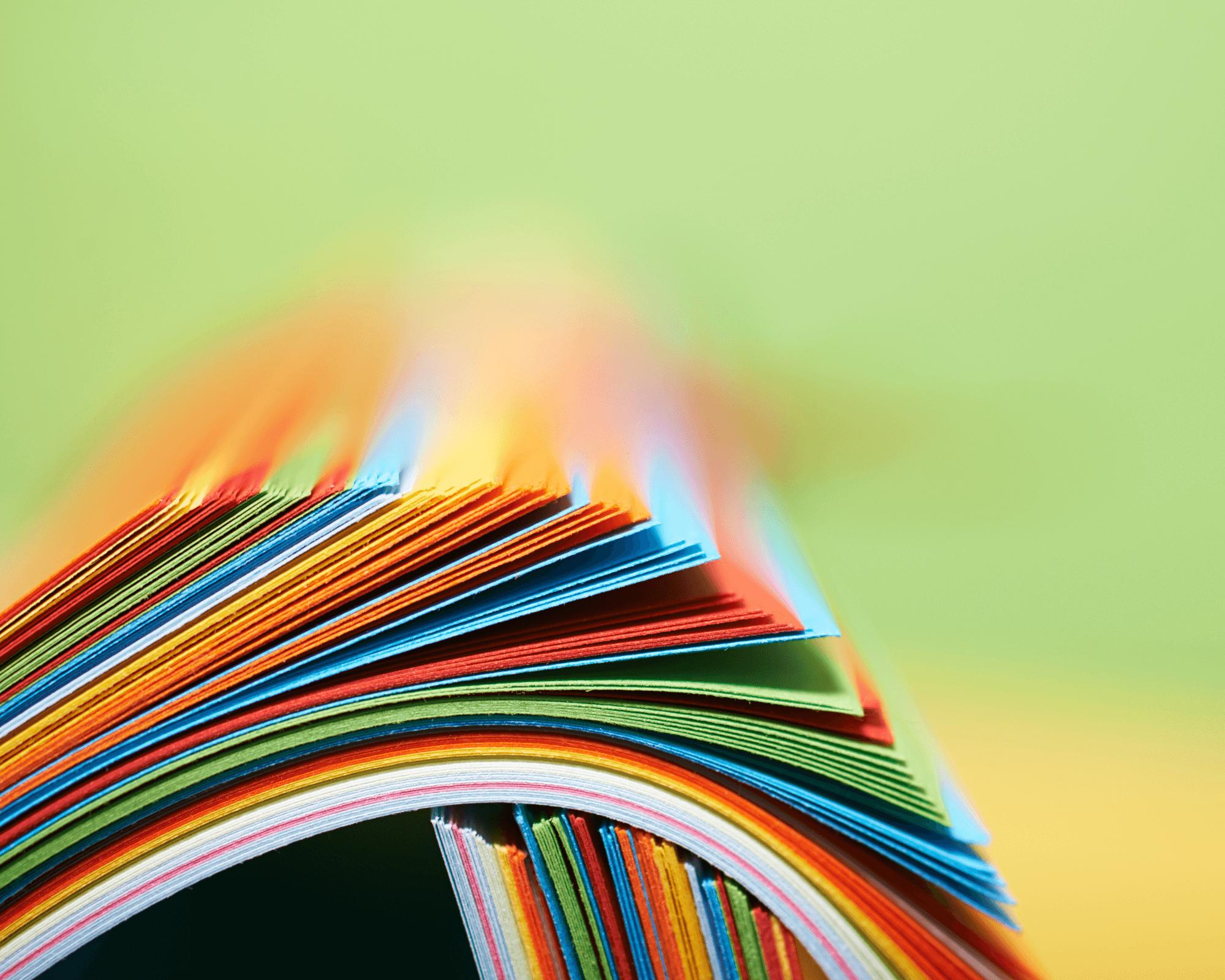 papel para realizar una impresión offset
