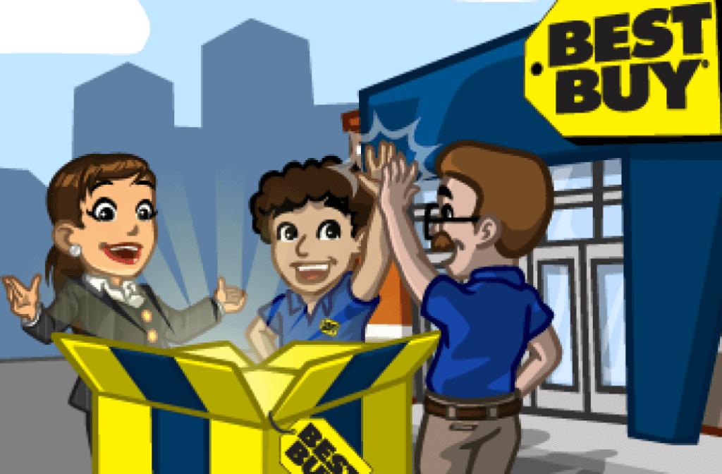 BestBuy sur le jeu Cityville sur Facebook