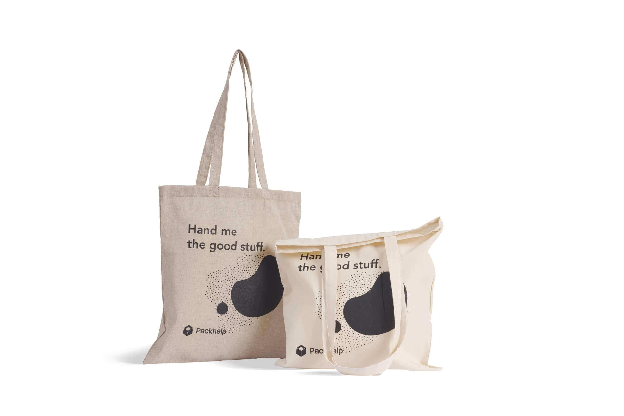 Tote bags avec impression noire