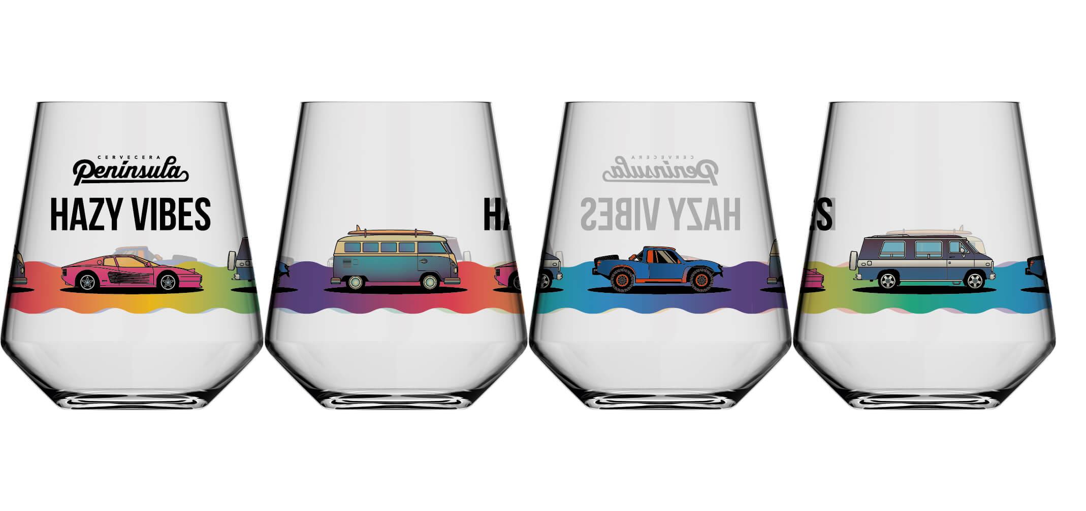 Vasos personalizados de Cervecera Península