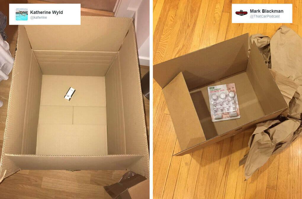 amazon packaging fallido