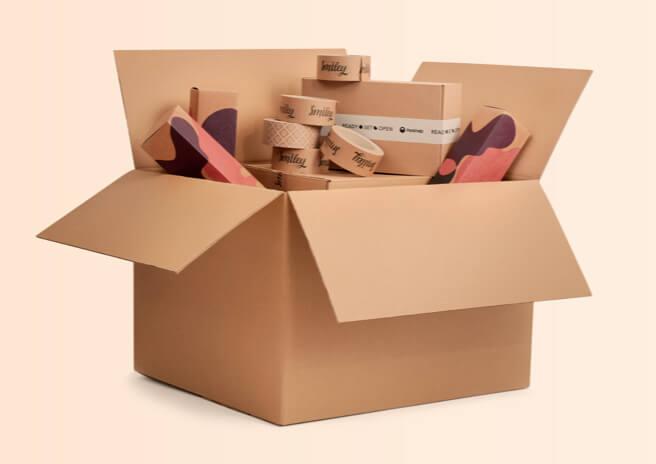 Caja para envío sin impresión con mercancía