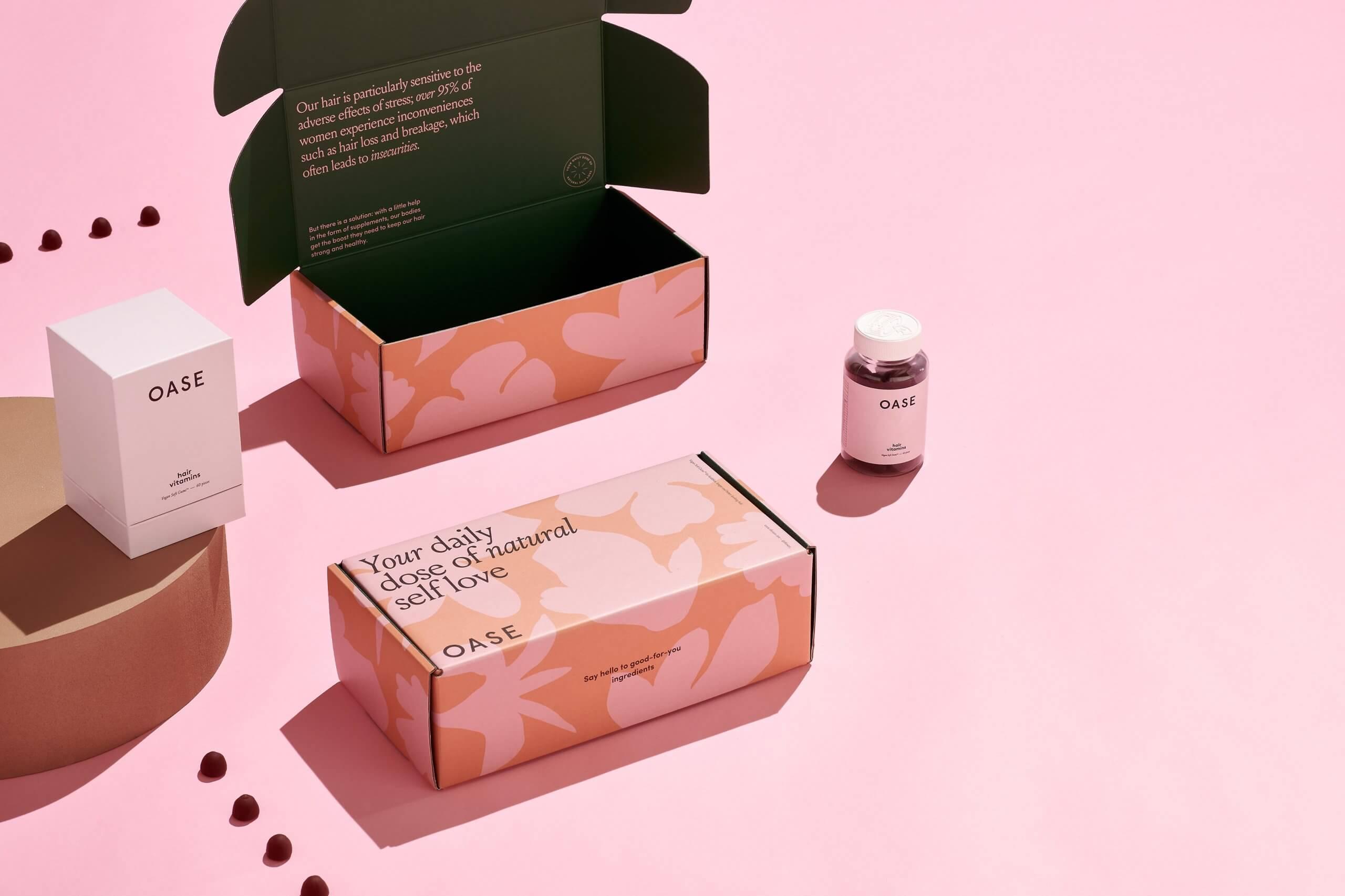 Oase customised packaging - Packhelp