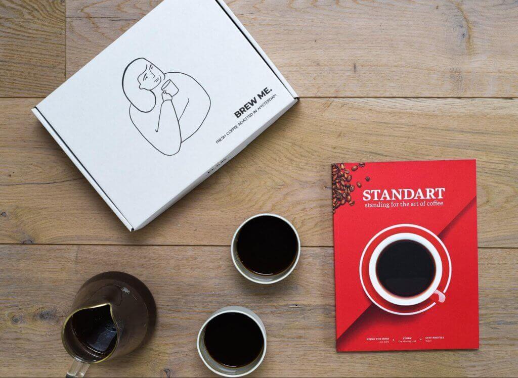 Dark coffee packaging - Packhelp