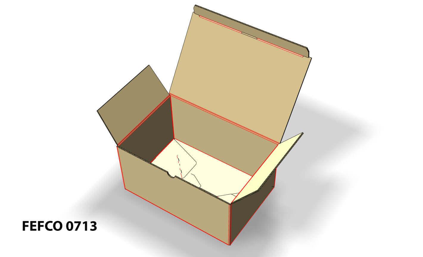 Imagen en 3D de caja fefco 0713