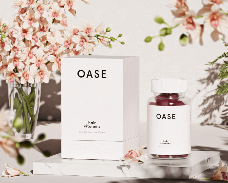 cutie alba de produs oase