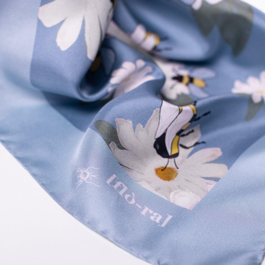 flora embroidery foulard