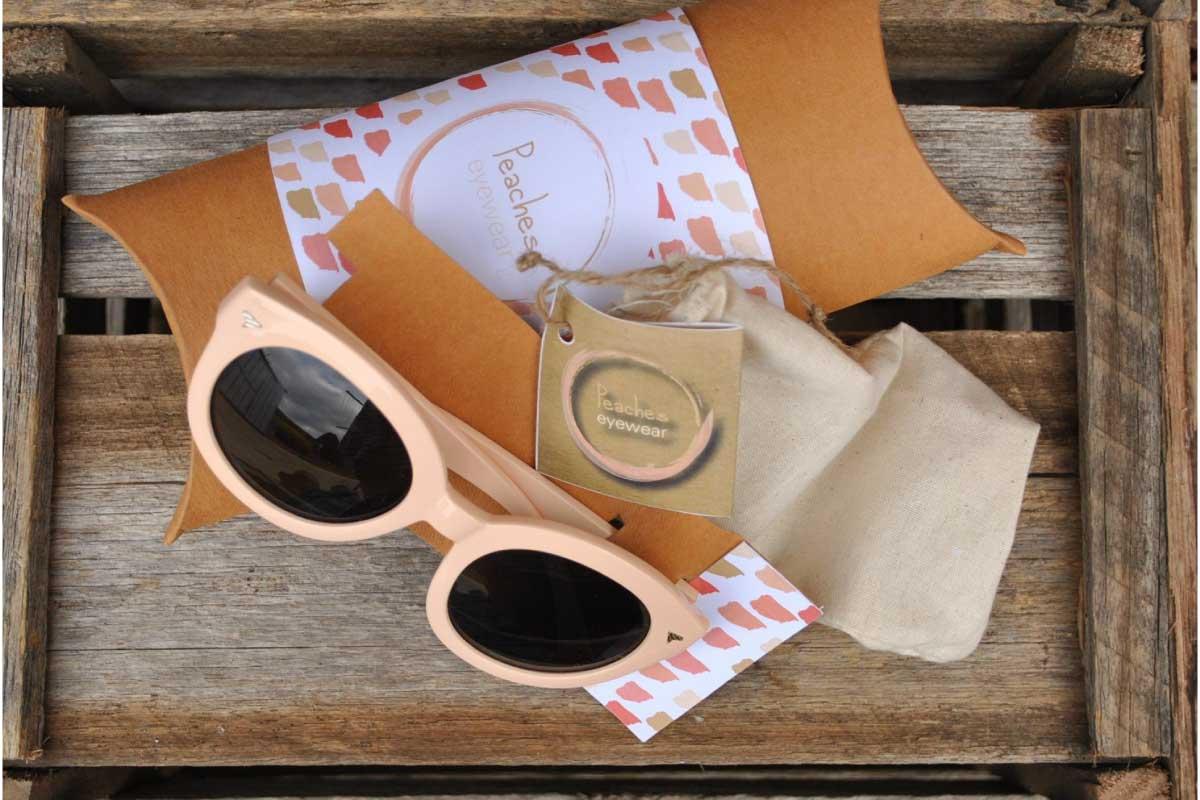 Peaches eyewear packaging