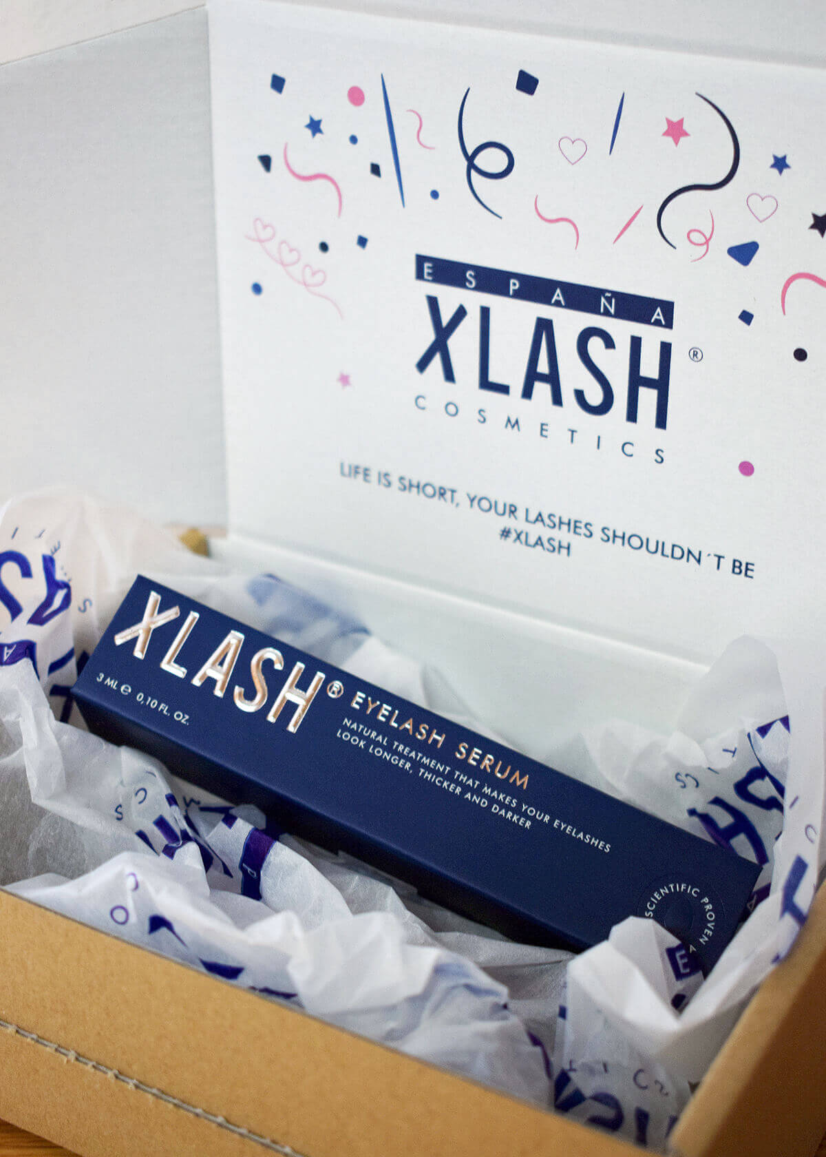 caja full color Xlash estudio de caso