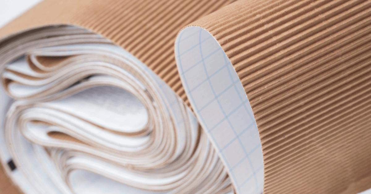 rollos de cartón corrugado