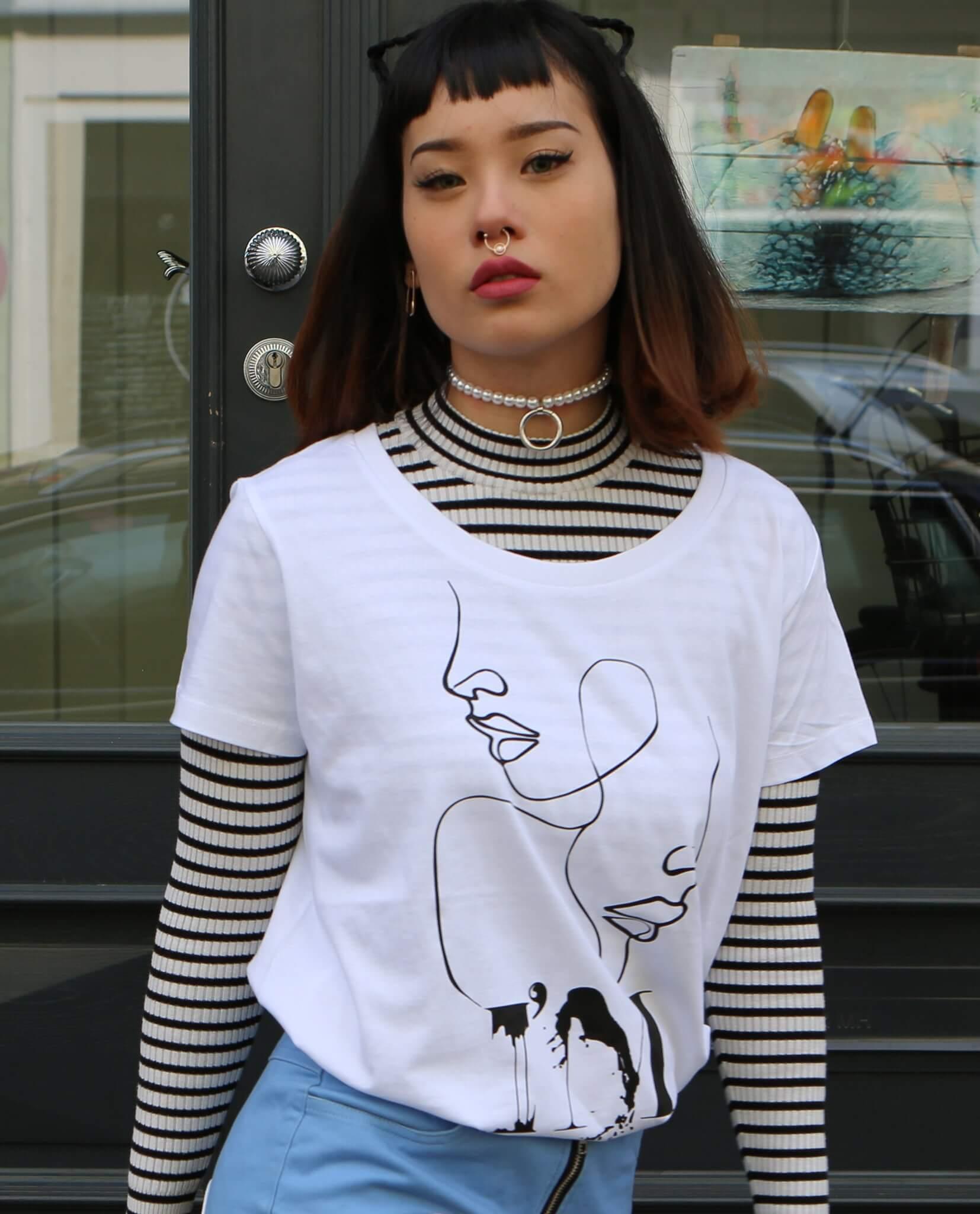 Wokey T-shirt mit Aufdruck