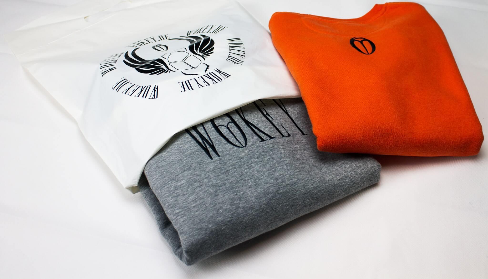 Bedruckte kompostierbare Versandbeutel für Kleidung von Wokey