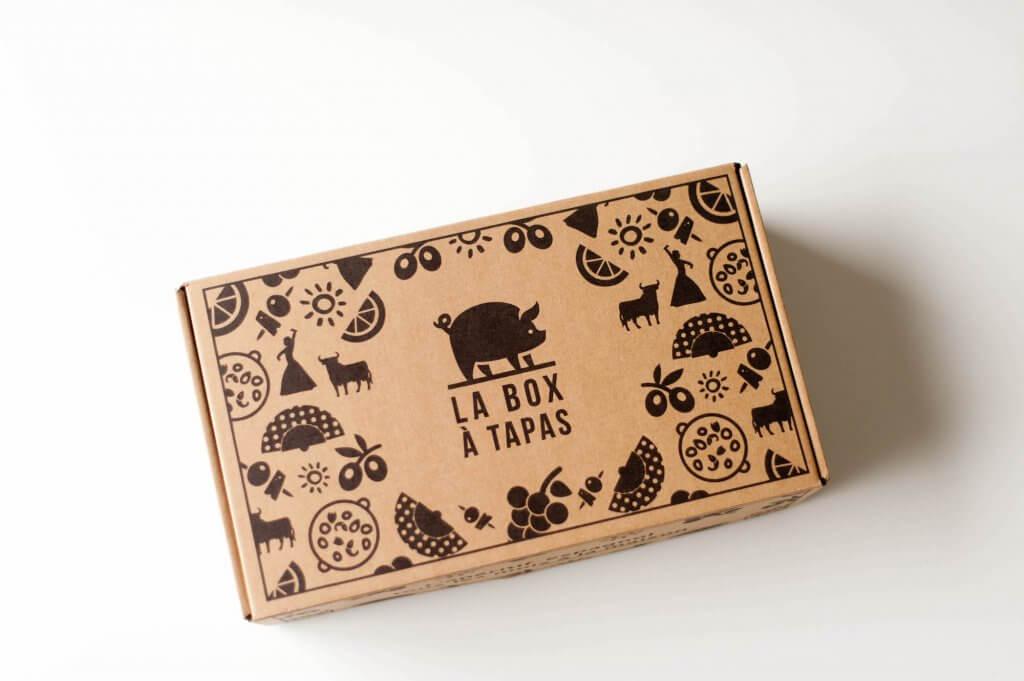 boîte éco Packhelp pour la box à tapas vue d'en haut