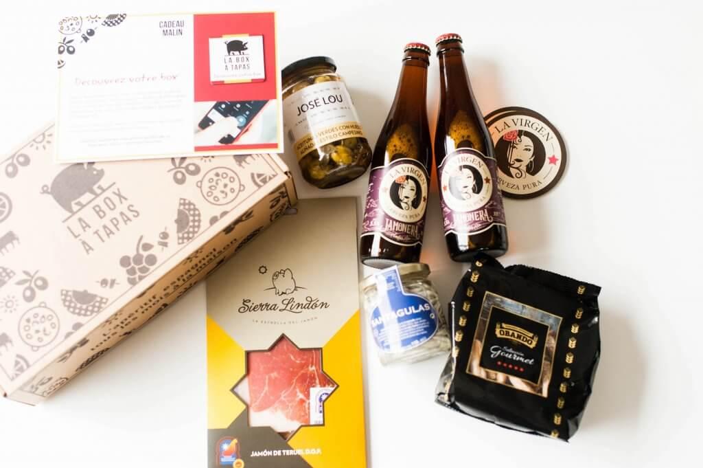 produits et contenu de la Box à Tapas