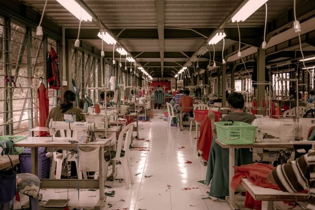 usine ou atelier de production de vêtements
